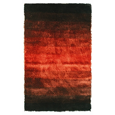 Noble House Jewel Black/Rust Rug; 8' x 11'