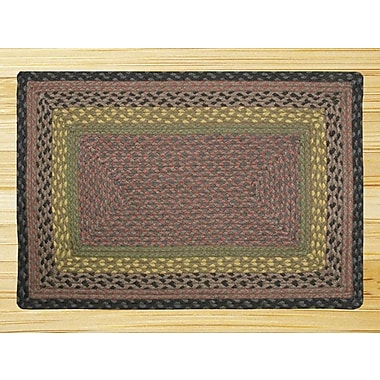EarthRugs Brown/Black/Charcoal Braided Area Rug; Oval Runner 2' x 6'
