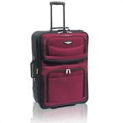 Traveler's Choice Amsterdam 25'' Two-Tone Expandable Rolling Suitcase; Burgundy