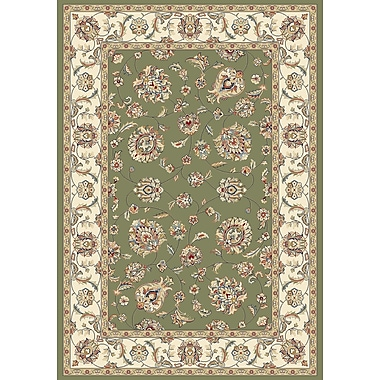 Dynamic Rugs Ancient Garden Green/Ivory Area Rug; Runner 2'2'' x 7'7''