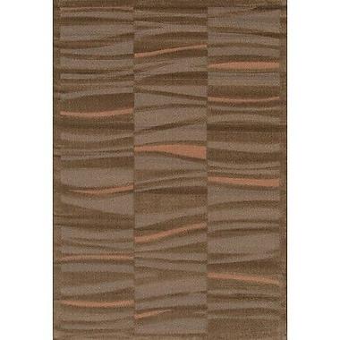 Chandra Rita Brown/Tan Area Rug; 3'11'' x 5'7''