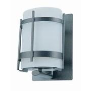 DVI Vermillion 1 Light Wall Lantern; Hammered Black with Half Opal Glass Shade