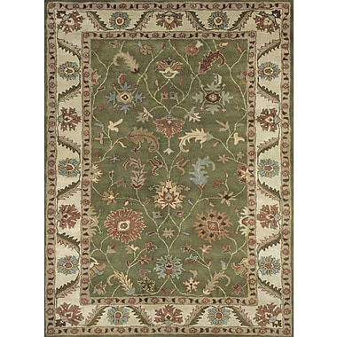 Dynamic Rugs Charisma Harding Green / Ivory Area Rug; 4' x 6'