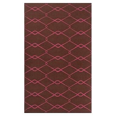 Jill Rosenwald Rugs Fallon Dark Chocolate Area Rug; 3'6'' x 5'6''