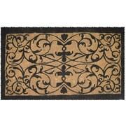 Entryways Handmade Iron Grate Doormat; Half Round 24'' x 40''