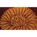 Entryways Mums Handwoven Coconut Fiber Doormat