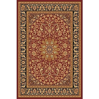 Dynamic Rugs Yazd Red/Gold Area Rug; 5'3'' x 7'7''