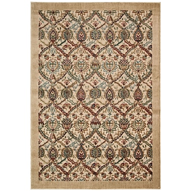 Nourison Graphic Illusions Light Gold Geometric Area Rug; 2'3'' x 3'9''