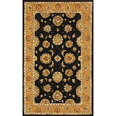 Dynamic Rugs Jewel Black/Camel Rug; 5' x 8'