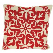 Design Accents Damascus Linen Throw Pillow; Red