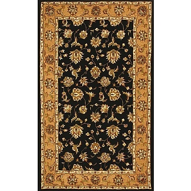 Dynamic Rugs Jewel Black/Camel Rug; Round 5'3''