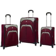 Travelers Club Lexington 3 Piece Expandable Spinner Luggage Set; Maroon