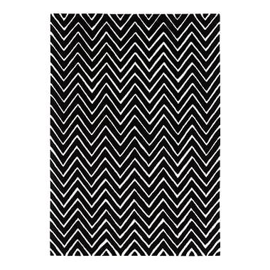 Dynamic Rugs Aria Ivory/Black Area Rug; 8' x 11'