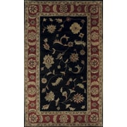Dynamic Rugs Charisma Black / Red Rosewood Area Rug; Runner 2'4'' x 8'