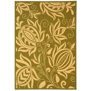 Safavieh Courtyard Olive / Natural Outdoor Area Rug; 5'3'' x 7'7''