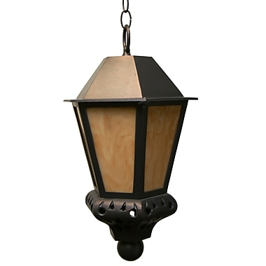 Melissa Tuscany 1 Light Outdoor Hanging Lantern; Architectural Bronze