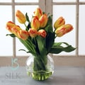 Jane Seymour Botanicals Tulip Bubble Bowl; Yellow Orange