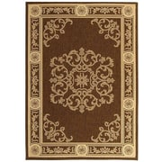 Safavieh Courtyard Chocolate / Natural Outdoor Area Rug; 5'3'' x 7'7''