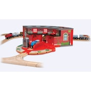 Melissa & Doug® Deluxe Roundhouse and Turntable Toy Set