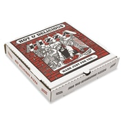 "Pizza Box B-Flute Kraft Pizza Box, White, 2 1/2""(H) x 14""(W) x 14""(D), 50/Pack"