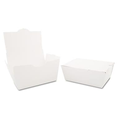 Southern Champion Tray ChampPak™ Carryout Box, White, 2 1/2