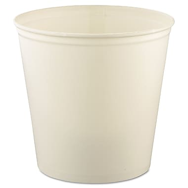 Solo® White Waxed Double Wrapped Paper Bucket, 165 oz., 100/Pack