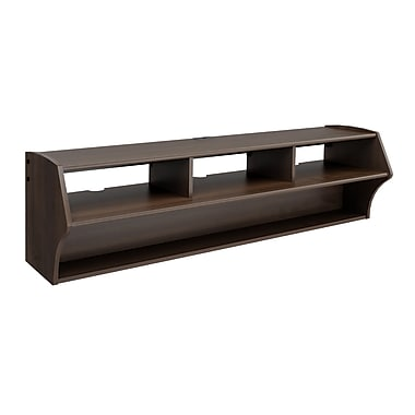 Prepac™ Altus Plus 58in. Floating Flat Panel Plasma /LCD TV Stand, Espresso