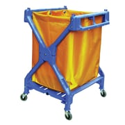 Duraplus X-Frame Folding Cart with Yellow Vinyl Bag