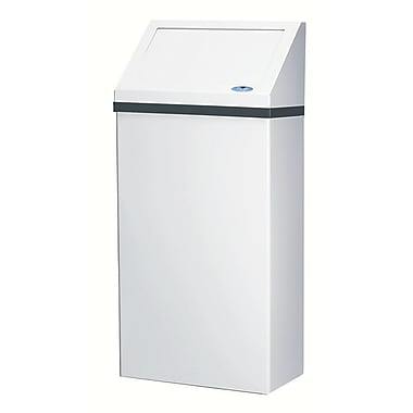 Frost Wall Mounted Waste Receptacle, 50-Litre, White Epoxy
