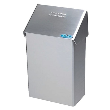 Frost Surface Wall Mounted Sanitary Napkin Disposal Receptacle, Stainless Steel