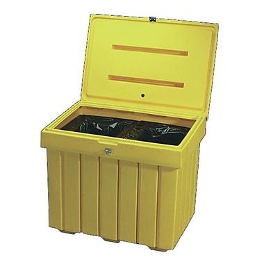 Tillson Plastic Salt and Sand Bin, Yellow