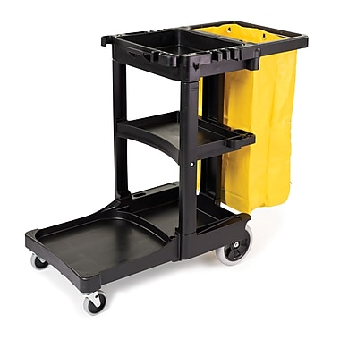Rubbermaid Janitor Cart with Yellow Vinyl Bag