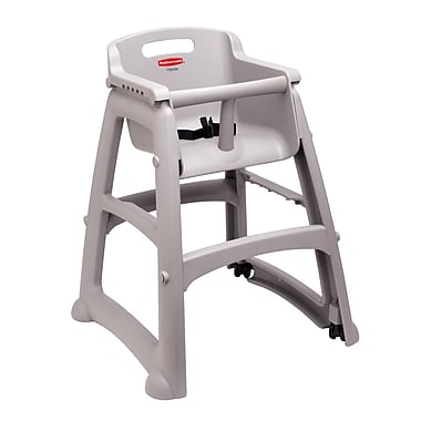 Rubbermaid® Sturdy Chair™ RU7805-PLA Microban Youth Seat High Chair with Wheels, Assembled