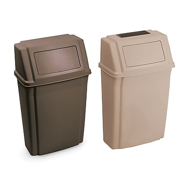 Rubbermaid Slim Jim® Wall Mounted Wastebasket, Beige