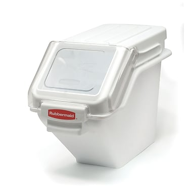 Rubbermaid ProSave 20.4 L Shelf Ingredient Bins with Portioning Scoop and Slant Lid, White