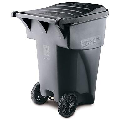 Rubbermaid Brute® Rollout Waste Receptacle Container, 359.6-Litre, Grey