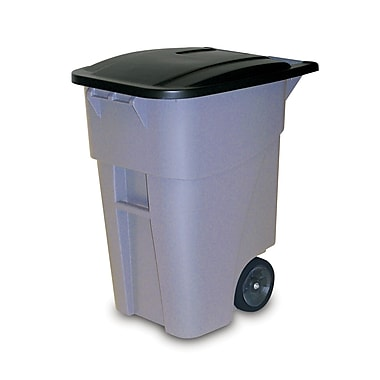 Rubbermaid Brute® Rollout Waste Receptacle Container, 189.3-Litre, Grey