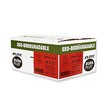 Duraplus OXO Utility Garbage Bags, Black, 24