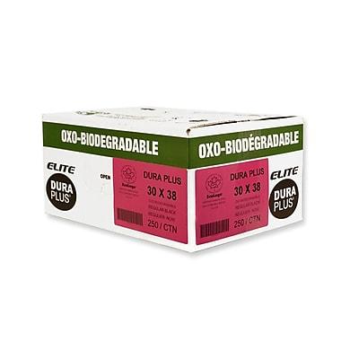 Duraplus OXO Utility Garbage Bags, Black, 30