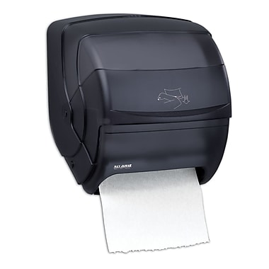 San Jamar Integra™ Lever Roll Paper Towel Dispenser, Black