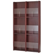 Buddy Products 0642-16 Wood/Acrylic Literature/Brochure Rack with 6/12 Pockets, Mahogany