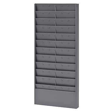 Buddy Products® 22 Pocket Job Ticket Rack With Adjustable Pockets, Gray