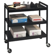 Buddy Products® Steel Utility Cart with 3 Shelves, Black