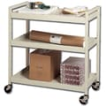 Buddy Products® 3 Shelves Steel Utility Cart, Putty