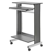 "Buddy Products® 44 1/4"" x 29 1/2"" x 19 5/8"" Stand-Up Height Fixed Workstation, Charcoal Gray"