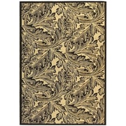 Safavieh Courtyard Sand / Black Outdoor Area Rug; 5'3'' x 7'7''