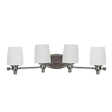Chloe Lighting The Polished Classic 4 Light Vanity Light; Brushed Nickel