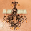 Classic Lighting Beaded Leaf 6 Light Wall Sconce; Oysters Amber