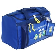 Mercury Luggage Going to Grandma's Children's Duffel Bag; Blue/navy trim