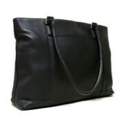 Le Donne Leather Women's Laptop Tote Bag; Black